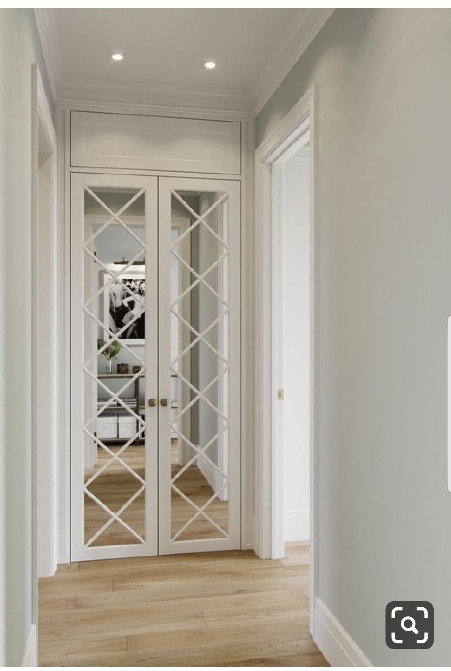 Excellent Proportions On These White French Doors With Mirror And
