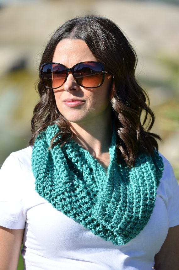 Crochet cowl neckwarmer scarf infinity scarf by ChildCrochet, $20.00