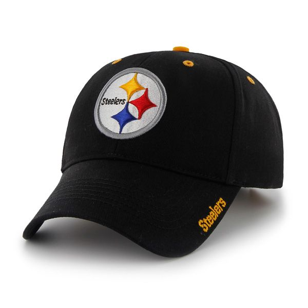 6adb9ea9d4e Pittsburgh Steelers Frost Black 47 Brand Adjustable Hat