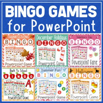 Holiday Bingo Games for Powerpoint BUNDLE Preschool Pinterest