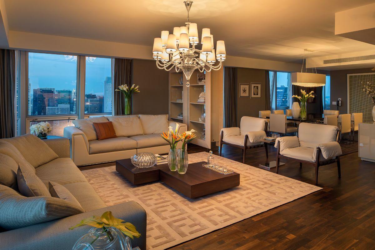 House Tour: Fendi Casa Living room at night