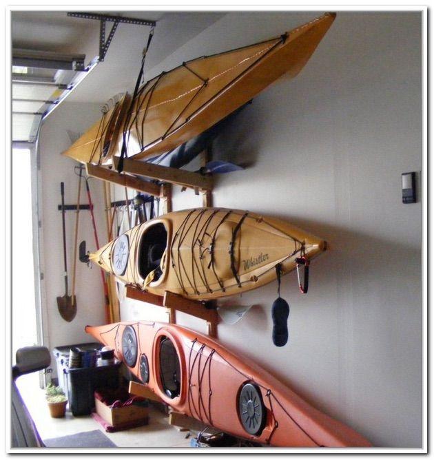 Kayak Wall Hanger >> Diy Kayak Garage Storage can be used as the home ...