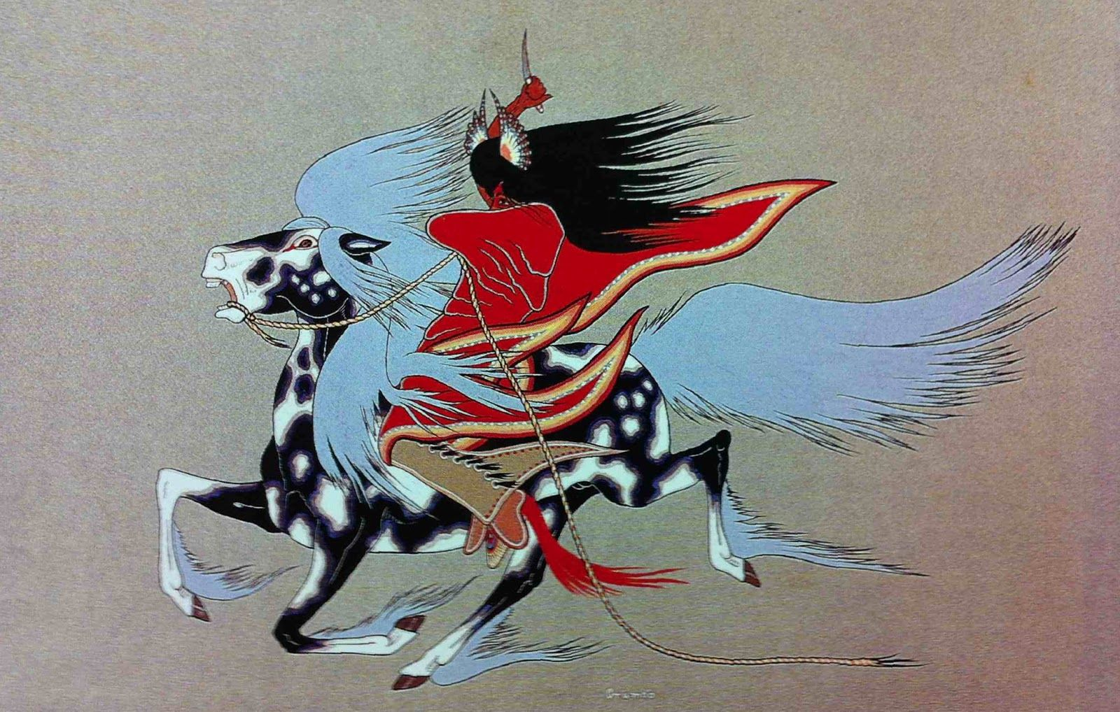 *F. Blackbear Bosin* (Kiowa/Comanche, 1921 – 1980) Night Hawk