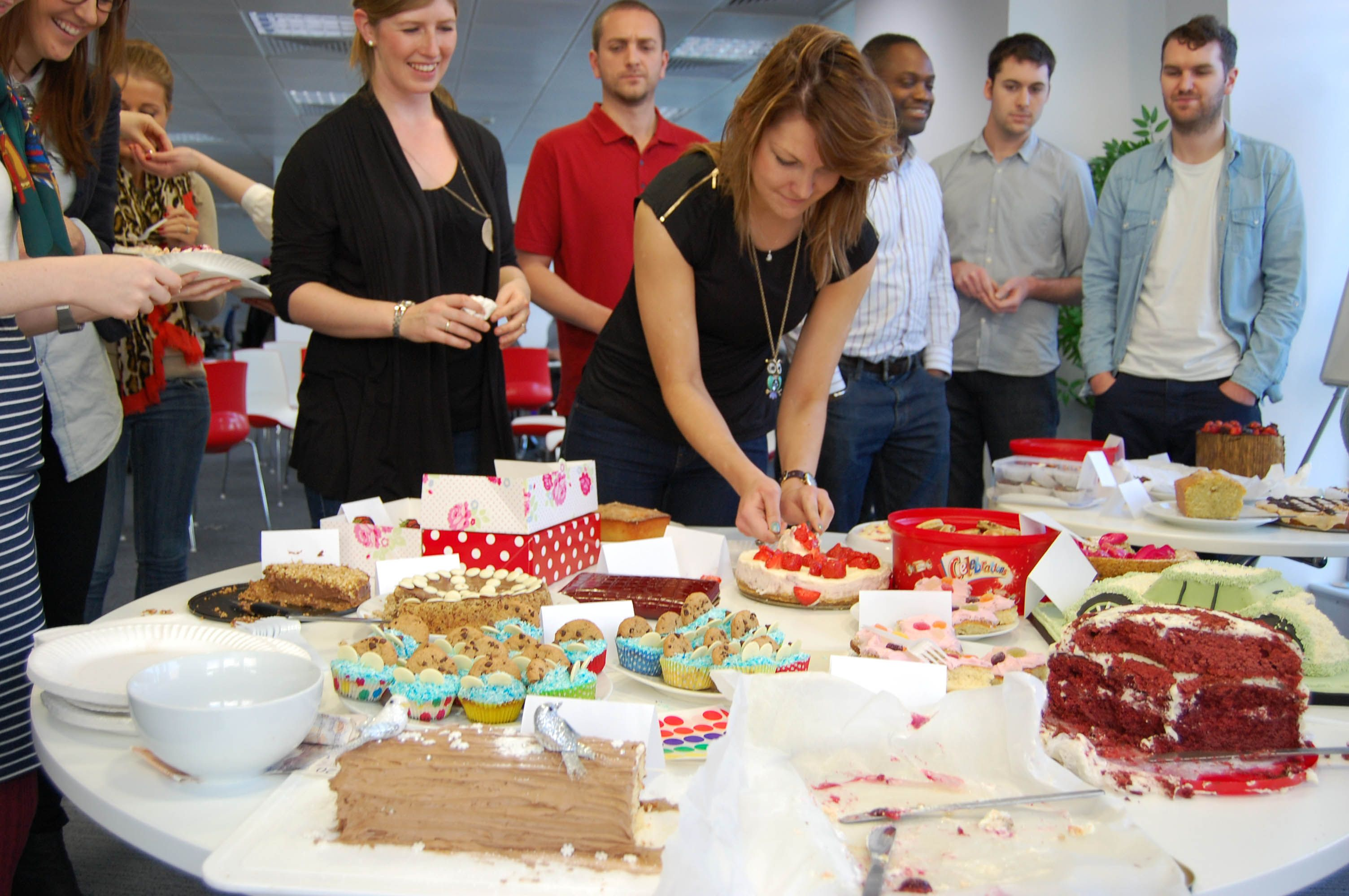 Team TMG really know how to do a cake off! Calories don't count if it's for charity @SSChospices ...nom, nom, nom.