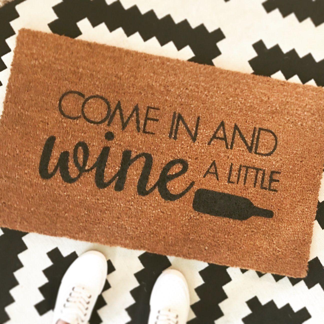 Wine Doormat Funny Doormat Funny Welcome Mat Fall Doormat