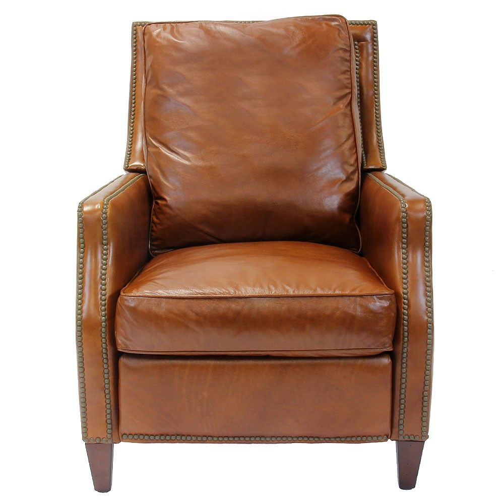 Henredon Leather Davis Recliner   Recliners   Living Room   Furniture