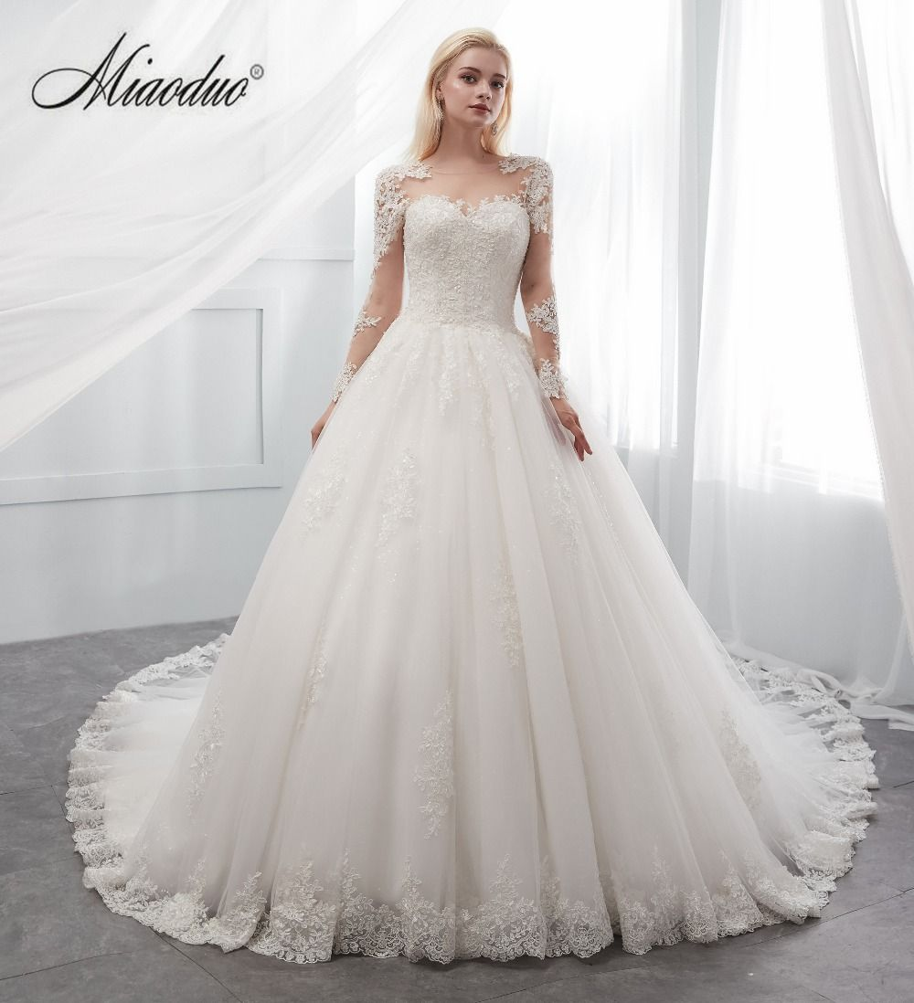 2f7ad8a2c05fe It's YiiYa New Long Flare Sleeve Wedding Dresses Simple O-neck Back Lace Up  Wedding Gown | Wedding Dresses | Pinterest | Wedding dress sleeves, ...