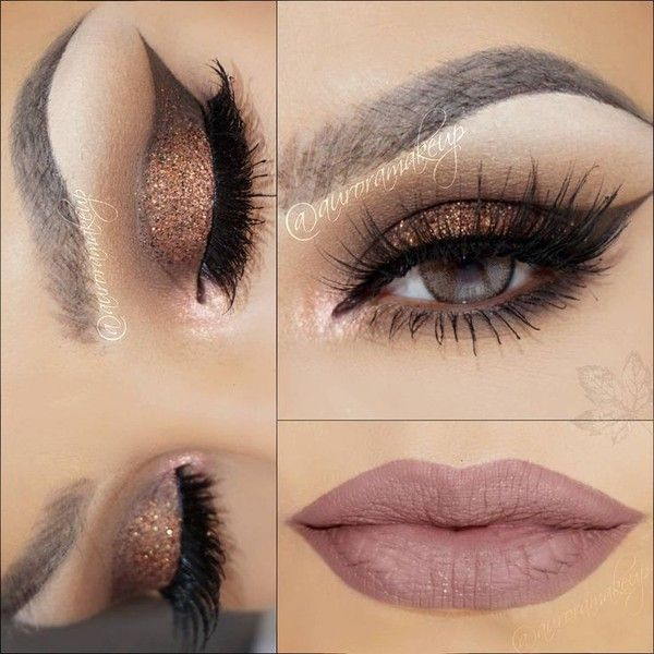 "♥AURORA ♥ on Instagram: ""My today AUTUMN TUTORIAL??? look using:... ❤ liked on Polyvore featuring beauty products, makeup, eye makeup, false eyelashes and eyes"