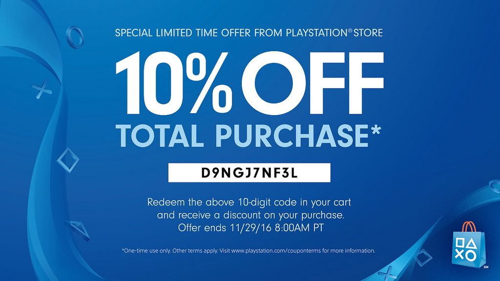 Sony Gives Away 10 PS Store Black Friday Discount Code The - free discount vouchers