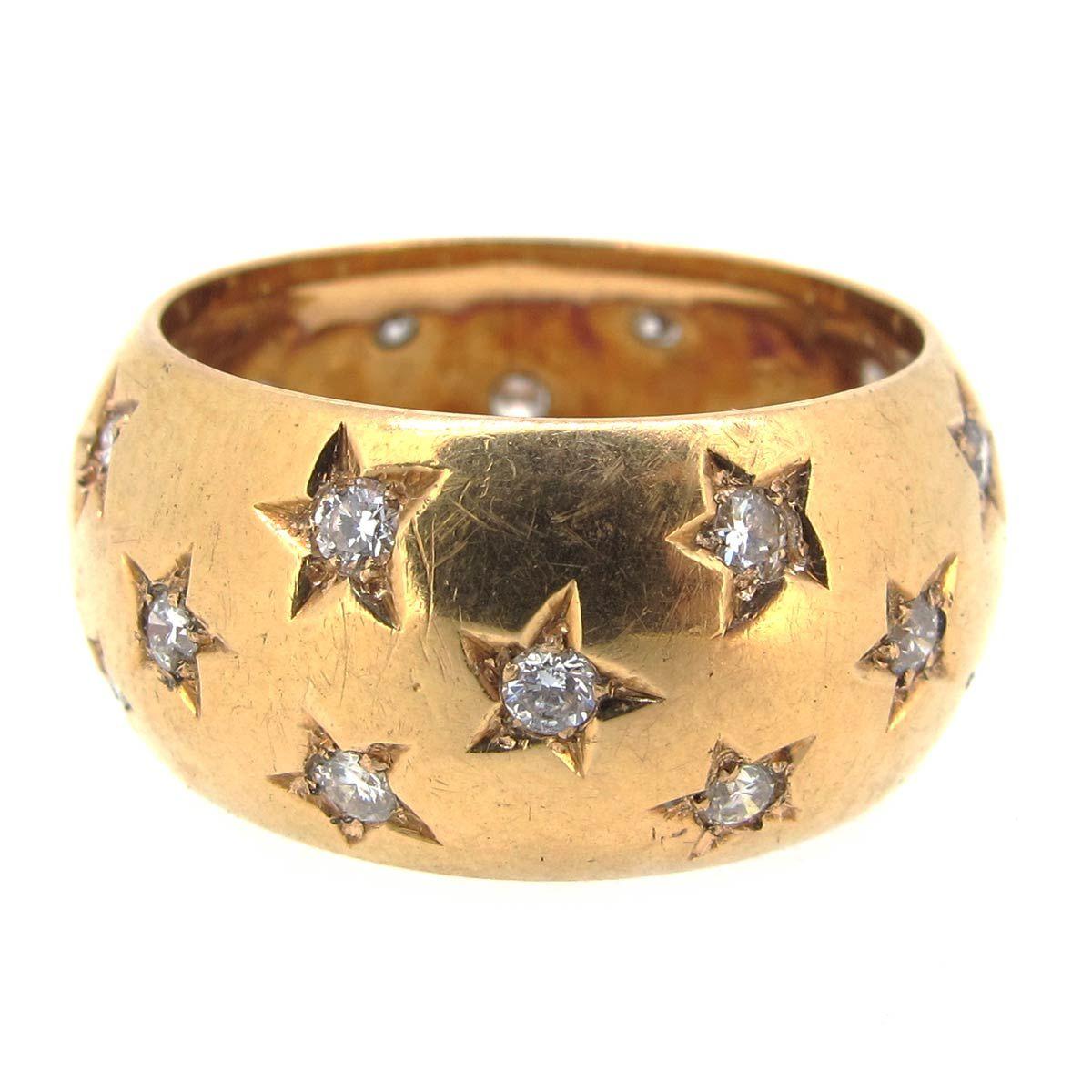 Gold u diamond star ring ar ullmann metal smithing inspiration