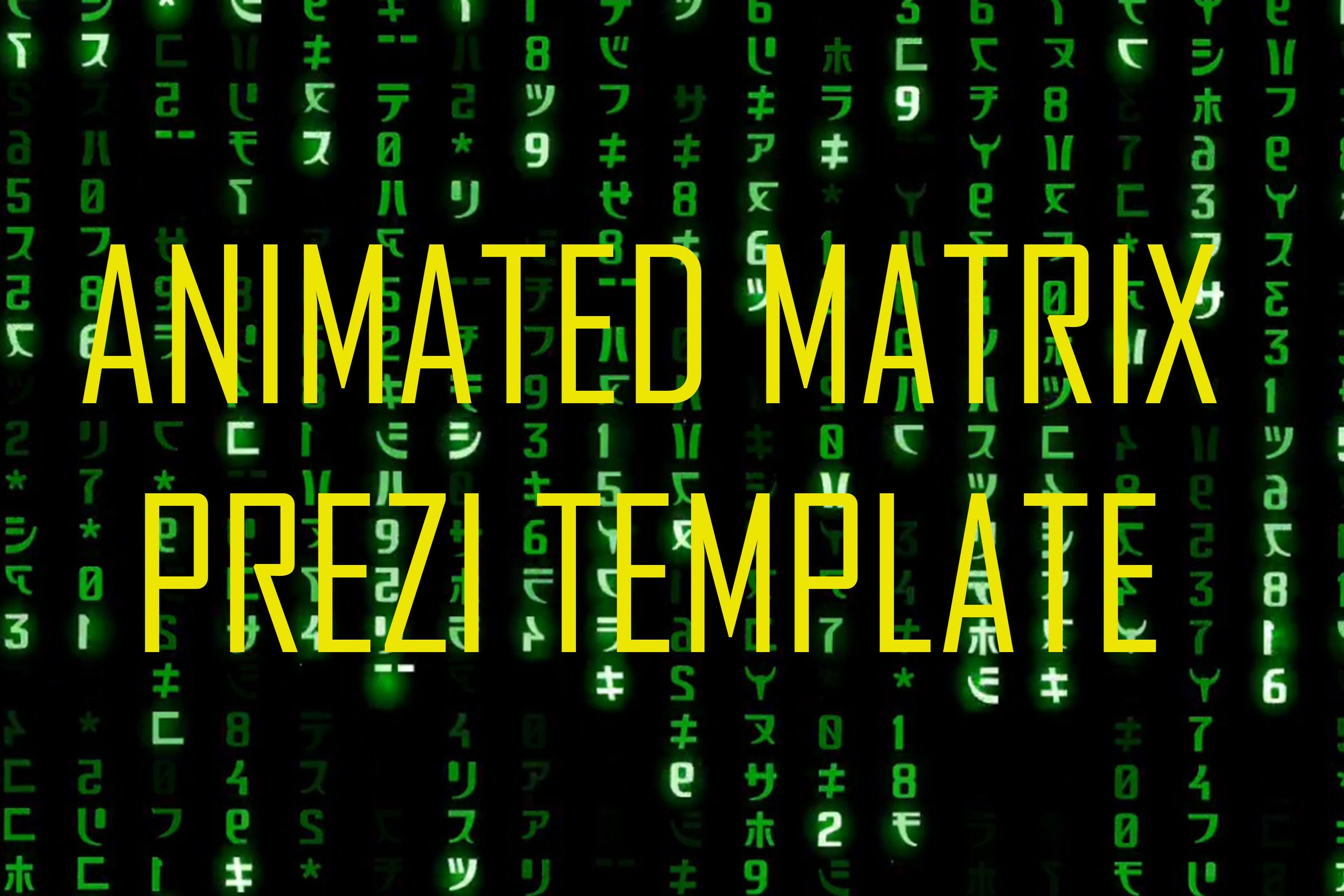 Animated matrix prezi template make awesome presentation you can animated matrix prezi template make awesome presentation you can contact me for using this pronofoot35fo Gallery