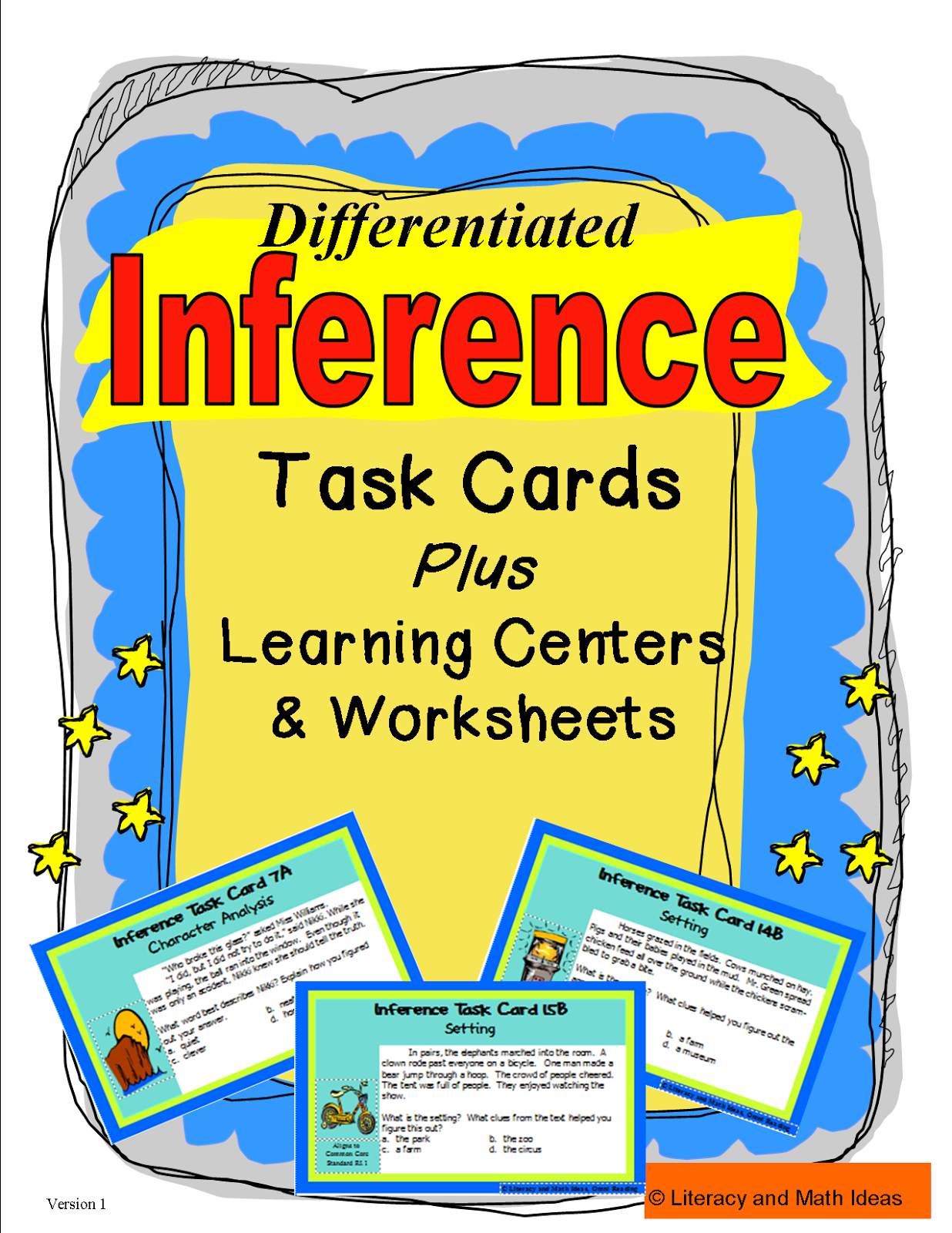 Differentiated Inference Task Cards The Task Cards Are Organized By The Types Of Inferences