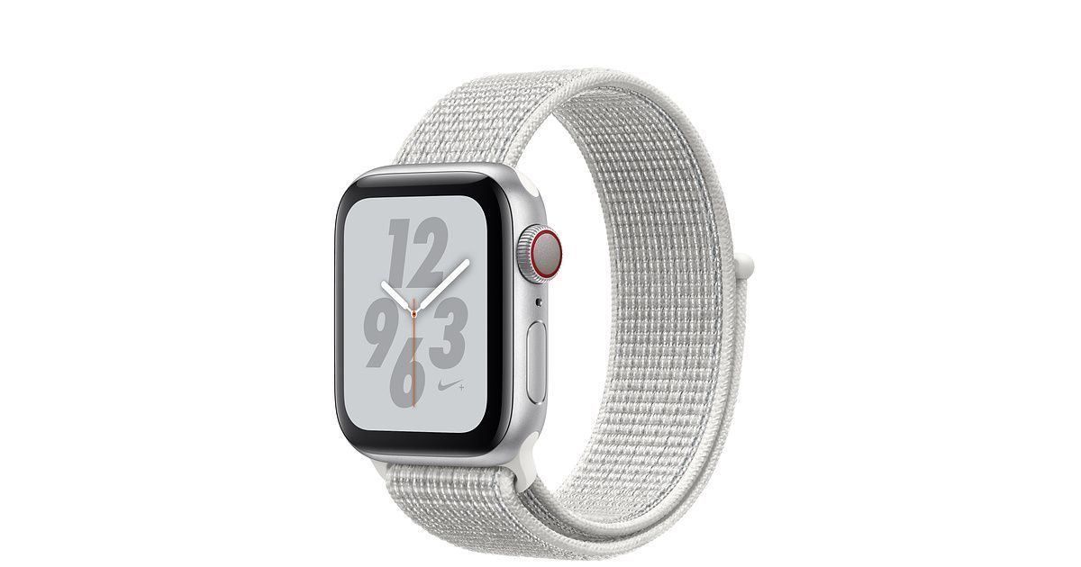 Shop Apple Watch Silver Aluminum Case with White Nike