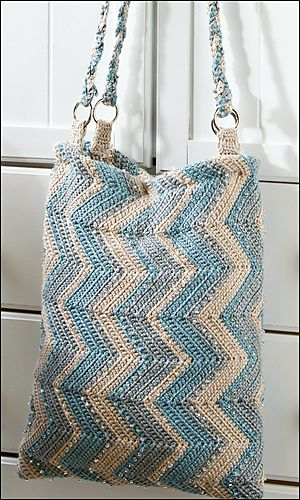 A Day of Style Tote Bag by Linda Dean #crochet