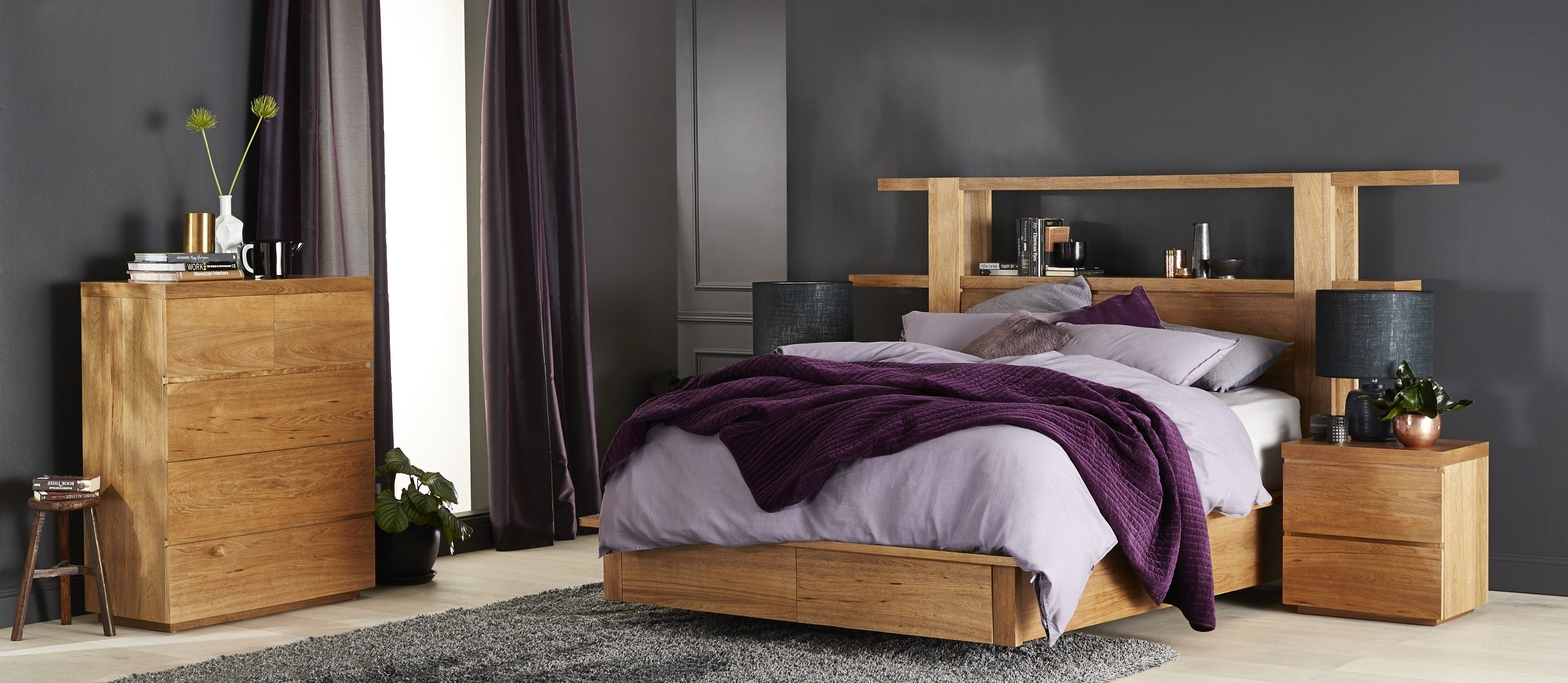 Grandeur Bedroom Furniture Crafted From Solid Mountain Ash