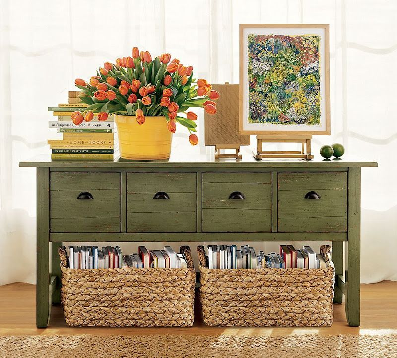 Decorating With Storage Green Painted Furniture Home Decor Decor