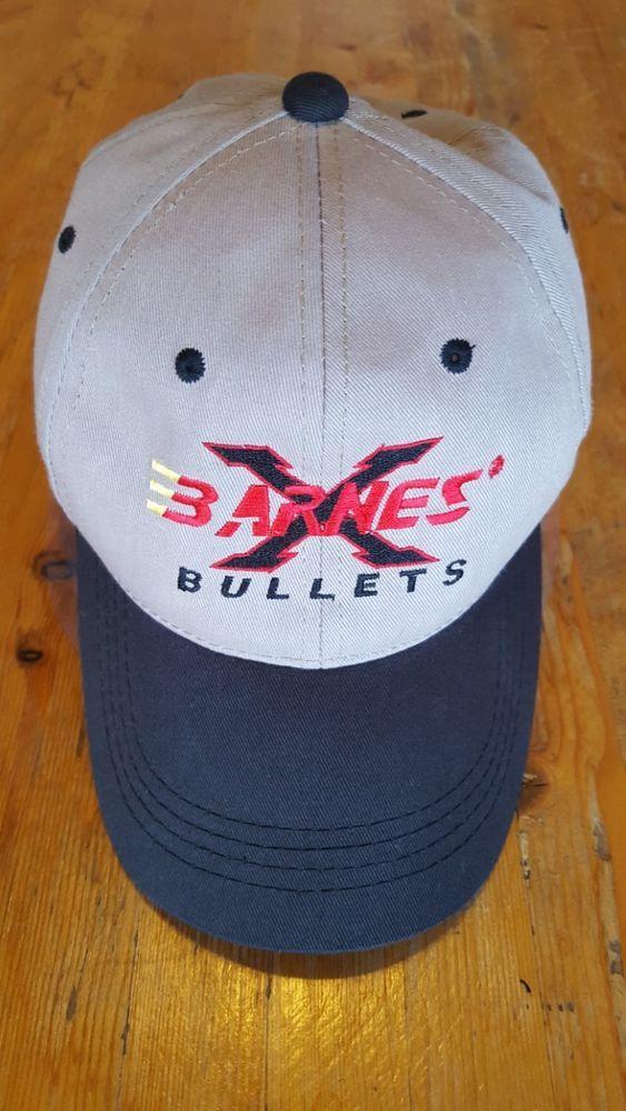 BARNES BULLETS BALL CAP EUC TAN CAP WITH BLACK BILL ONE ...