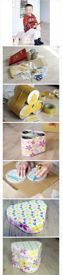 banco feito de latas de leite do vasco