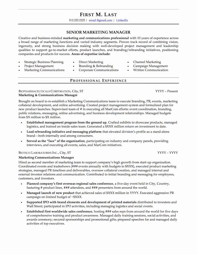 Strong Resume Headline Examples Inspirational Mid Career