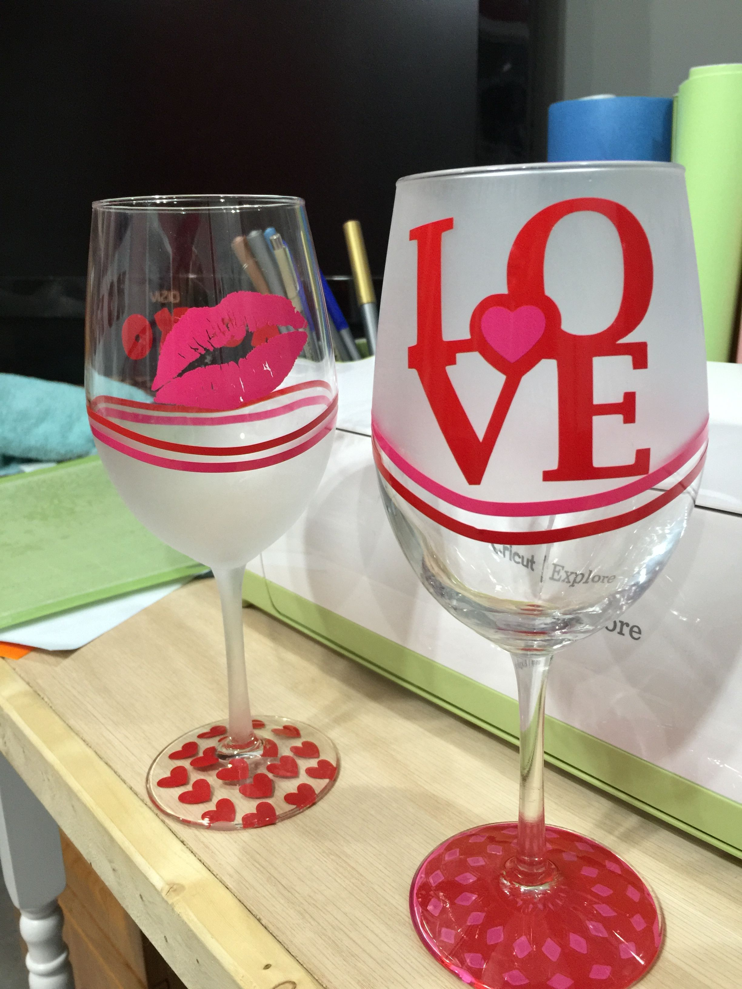 Diy Valentine S Day Wine Glasses Valentine S Day Pinterest Diy