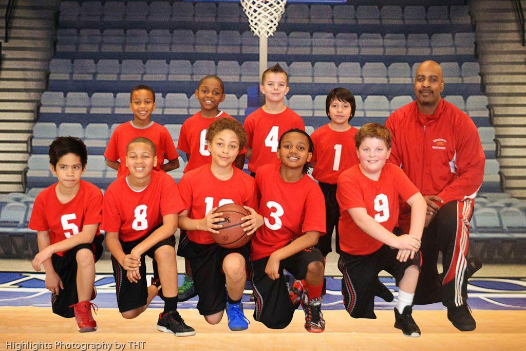 Little League Basketball team photo Highlights Photography