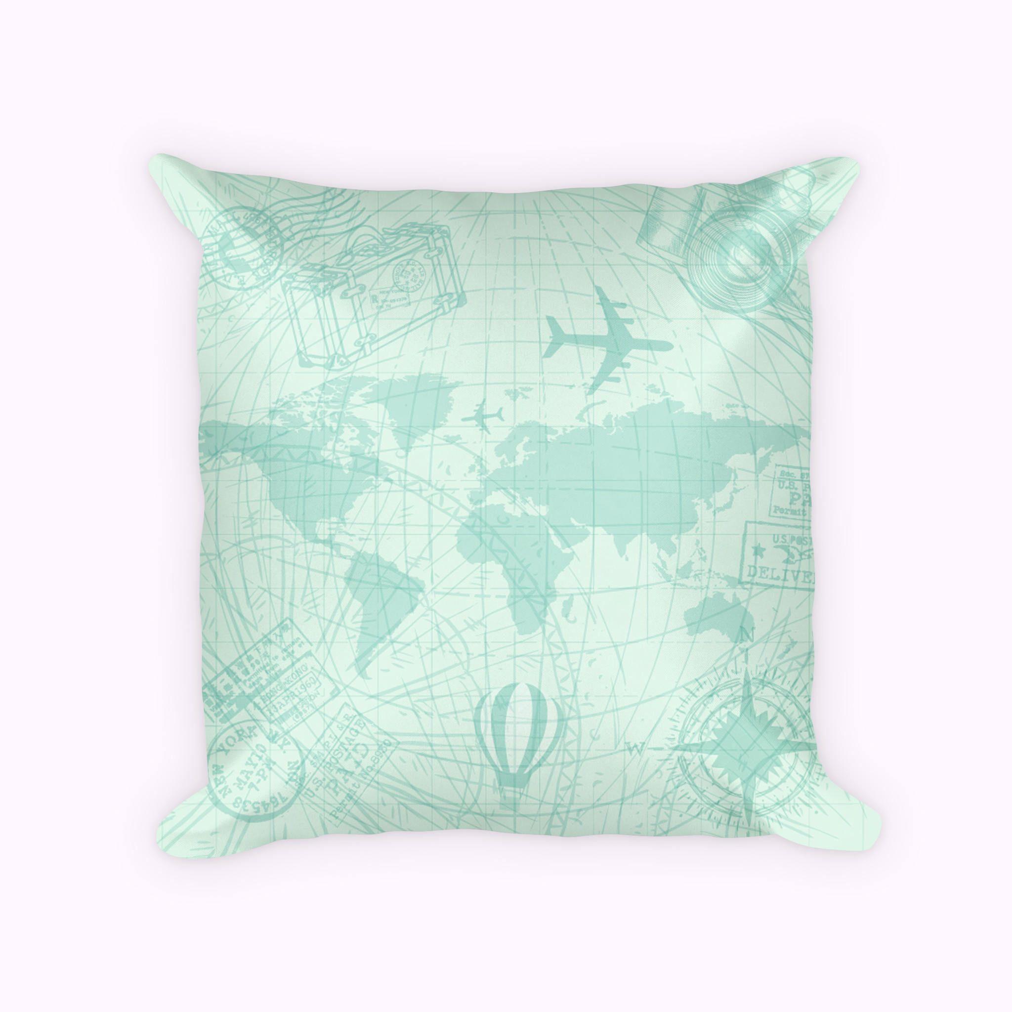 World map pillow cover traveler throw pillow adventurous pillow world map pillow cover traveler throw pillow adventurous pillow aeronautical decor pilot gumiabroncs Choice Image
