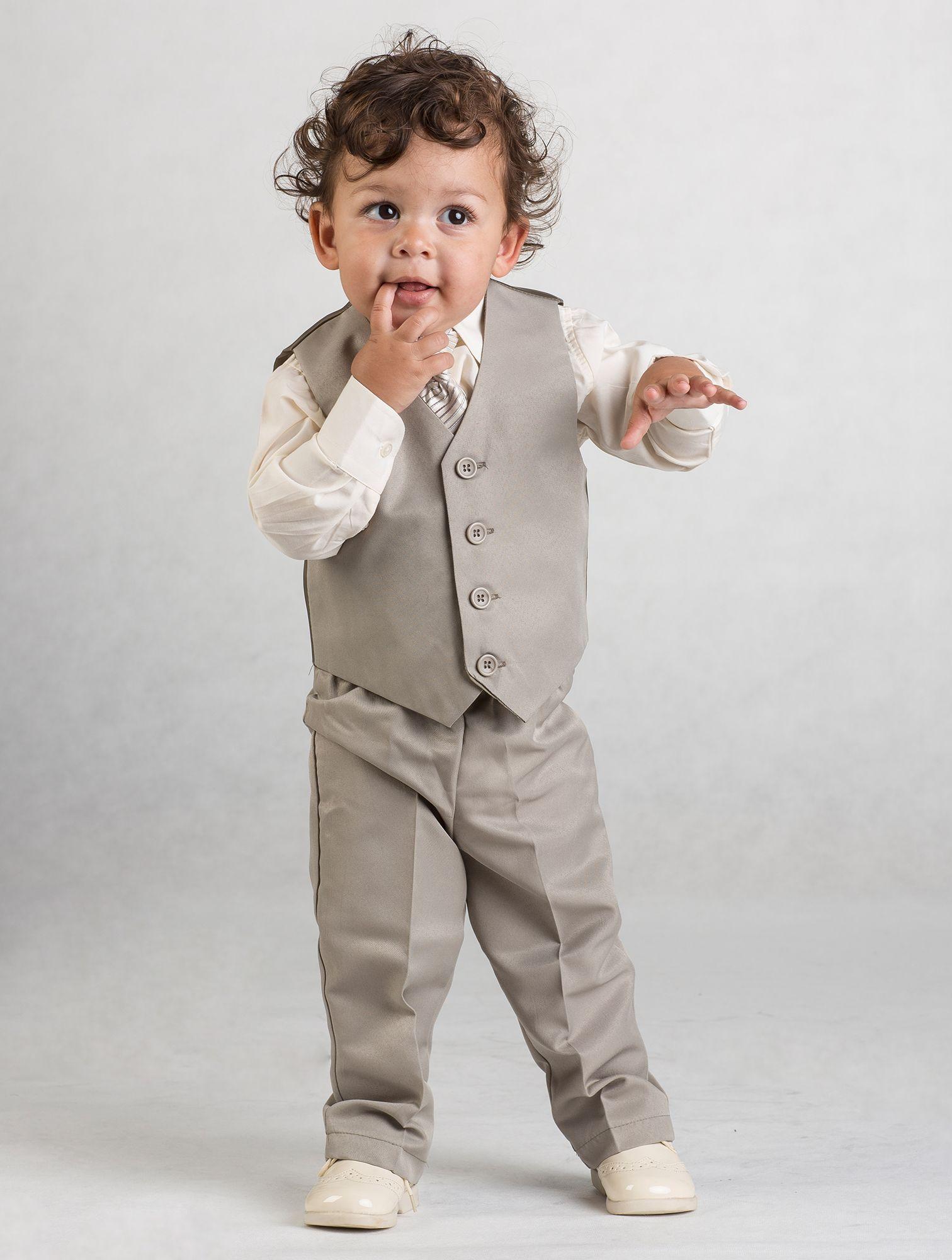 Page Boy Suit | Harry - Beige & ivory 4 piece waistcoat suit. Ages ...