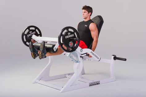 leg extension  rogers athletic  abs on fire workout leg