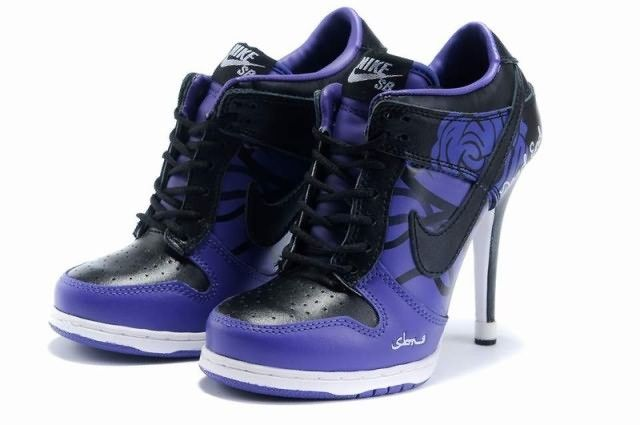 timeless design 9d88a 1199f Nike Dunk Valentine Day Low Womens High Heels Purple Black