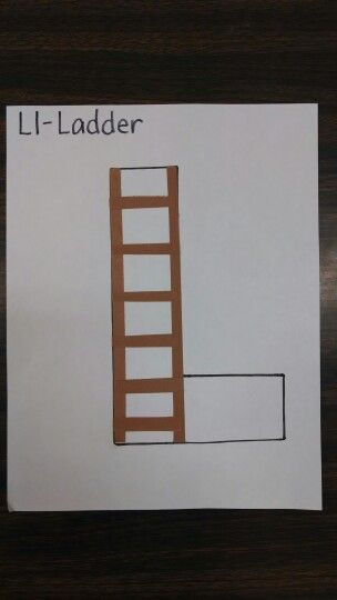 Letter L Craft Project Pre K Preschool Ladder