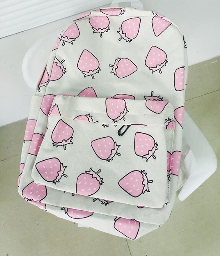 0755e7000e2d 2015 мода женщины холст рюкзаки фрукты печать школьный портфель для  подростков девочек дорожная сумка рюкзак Mochila Feminina купить на  AliExpress