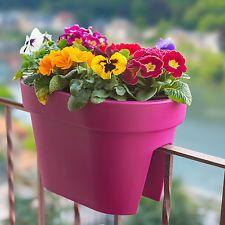 Lofty Flower Railing Planter Pot Garden Porch Rail Outdoor Decor