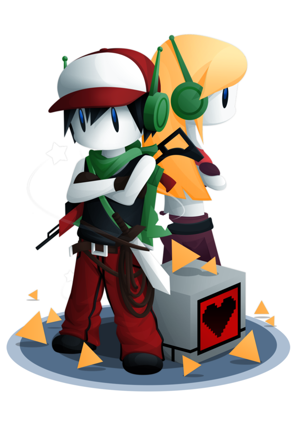 Quote and curly brace from cave story random nerdy stuff quote and curly brace from cave story voltagebd Image collections