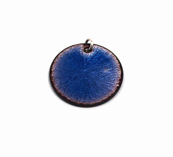 Anhänger Kupfer Emaille blau von Emaillekönigin- handgefertigter ...