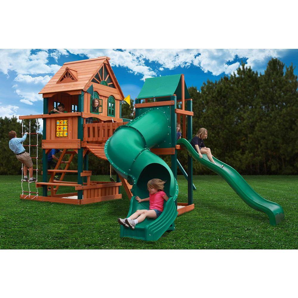 "Woodbridge Cedar Swing Set - Gorilla Systems - Toys ""R"" Us ..."
