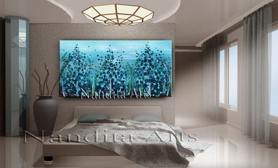 48 Landscape Paintings Texas Beauty Bluebonnet Turquoise Blue Flower Art Art On Canvas Wall Art Fl Blue Flower Art Acrylic Painting Canvas Texture Painting