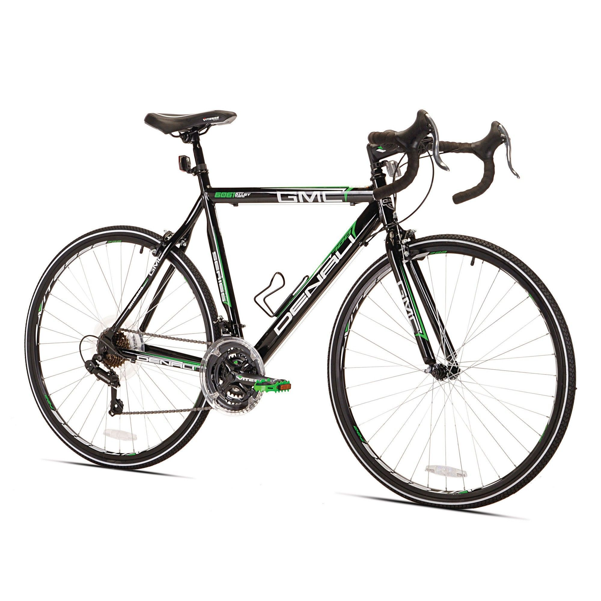 Gmc Men S Denali 28 700c Road Bike Black Green Flat Bar Road Bike City Bike Gmc Denali
