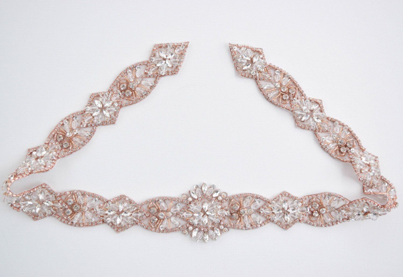 Pearl belt for wedding dress  Rose Gold Rhinestone Belt with ClaspRose Gold Bridal Belt sash