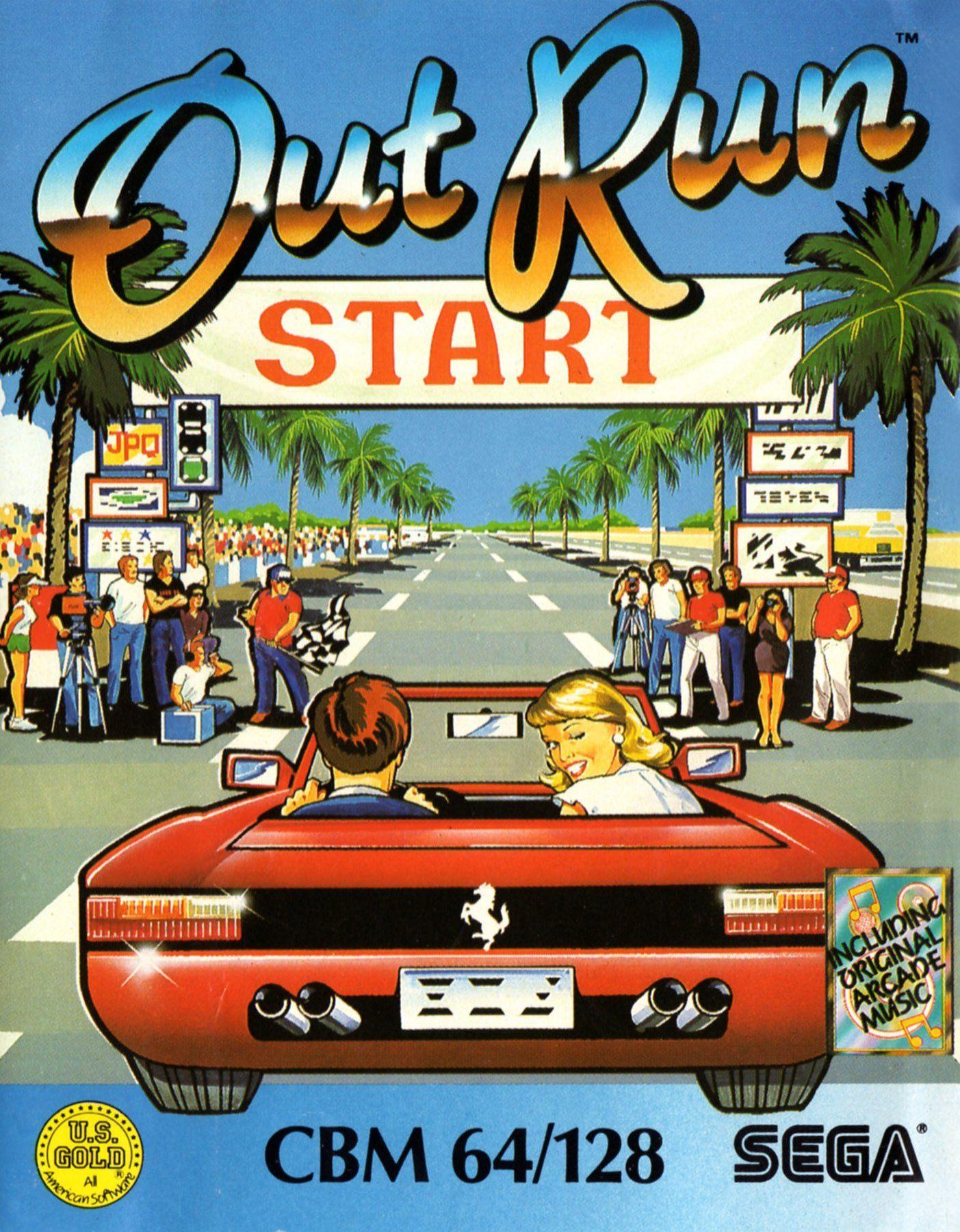 Out Run Game Gear Classic video games, Retro video