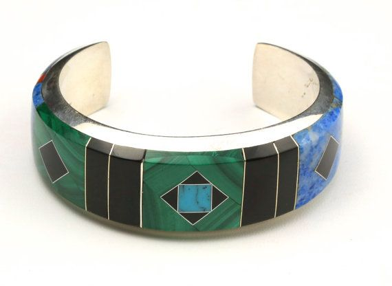 Vintage Large Zuni Inlaid Cuff Bracelet by HouseofVintageOnline, $895.00