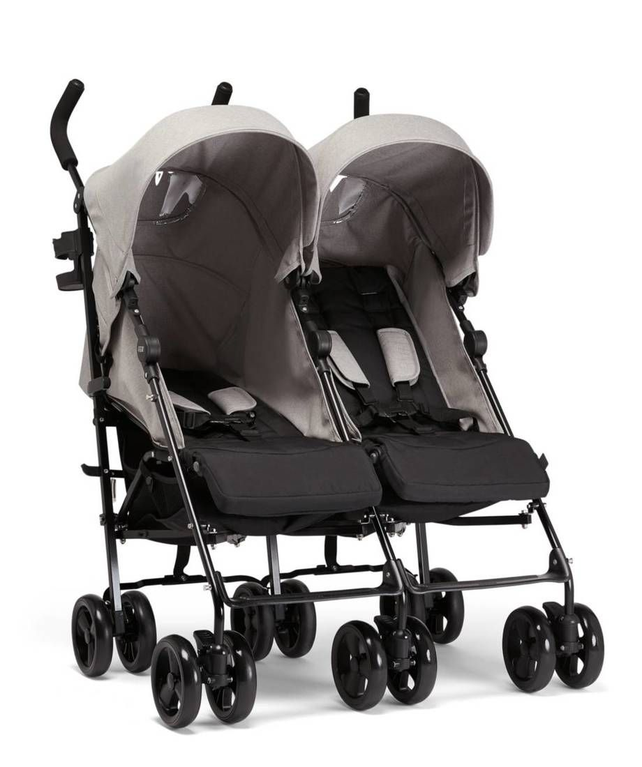 Egg Pram Gunmetal Cruise Twin Folding Buggy Grey Marl Baby Baby