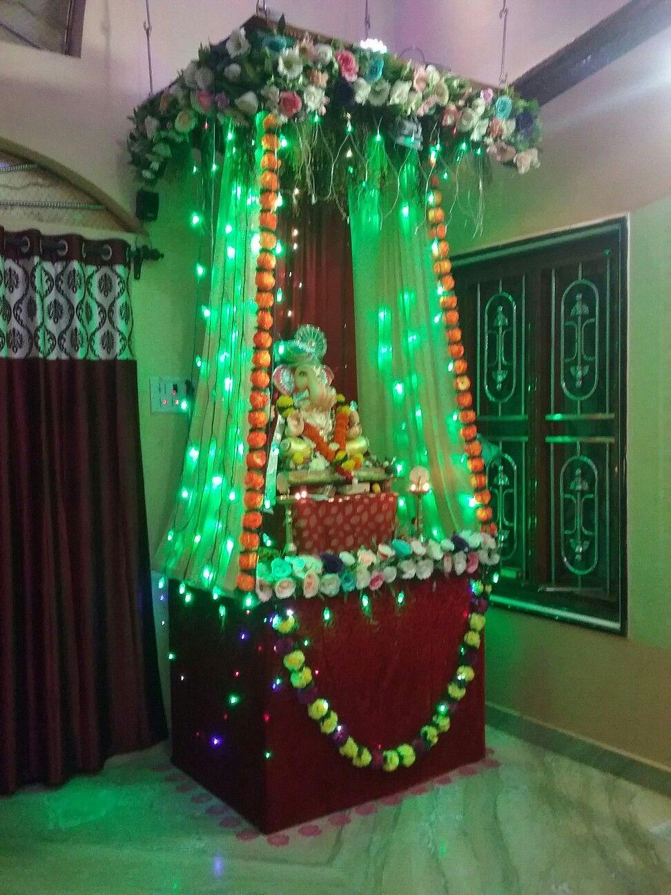 Ganesh Chaturthi Decoration At My Home Ganesh