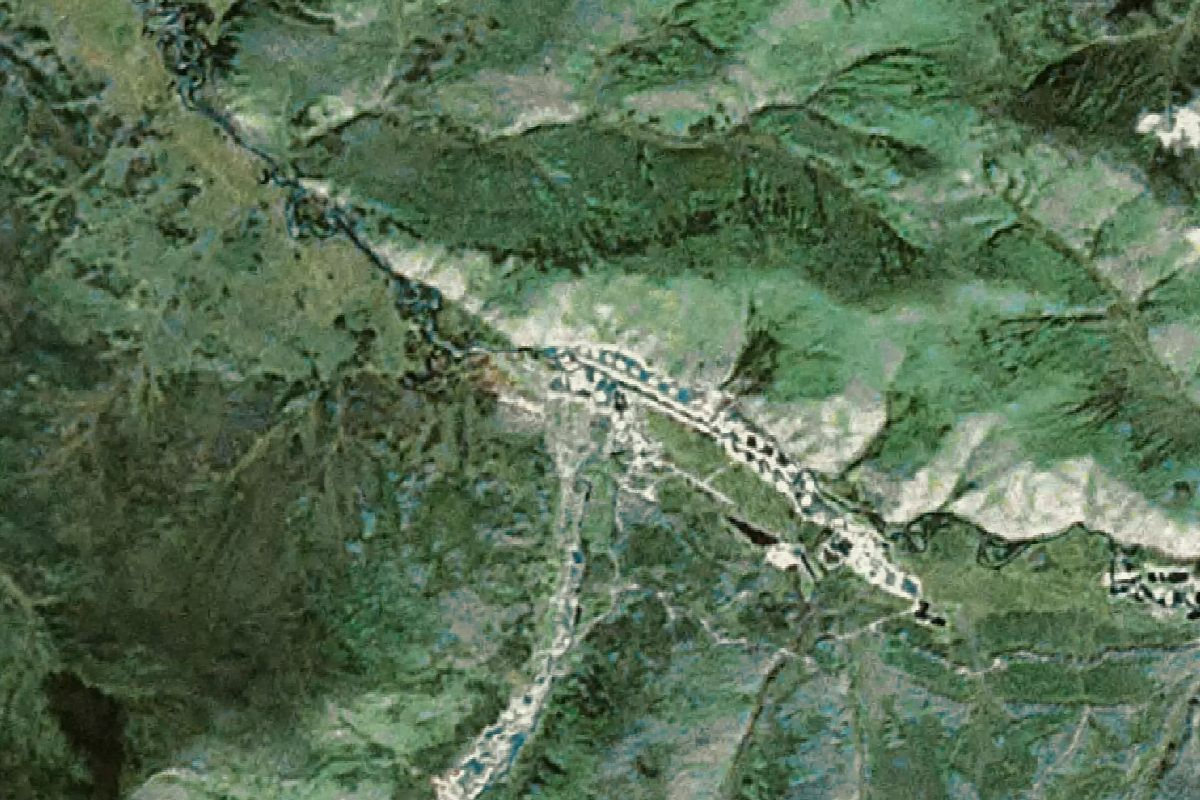 The eureka diamond - Satellite Map View Of The Eureka Creek Mine In The Yukon Canada Mined By The