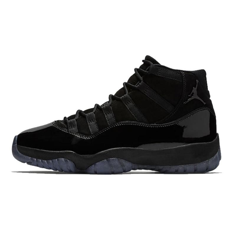 Jordan 11 Basketball Shoes Cap And Gown all black Winter Shoes Lace-up Warm  Outdoor 04db5c289fc2