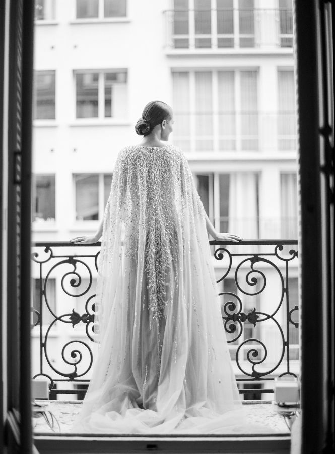 This stunning Parisian inspiration photo shoot from Le Secret d'Audrey and Vanessa & Caroline all started with a Krikor Jabotian dress, and oh my goodness, is it a dress. I'm not usually a beaded gown type of girl, but the Lebanese designer's dreamy