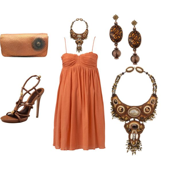 A beach sundress is now fit for the party!, created by peridotsgarden on Polyvore