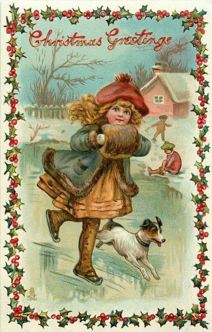 Картинки старинных новогодних открыток, картинки