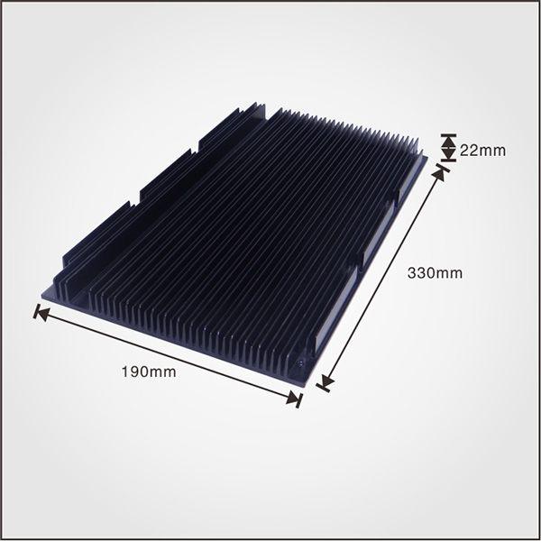Manufacuturer Anodized Square Shape Aluminum Extrusion Heatsink
