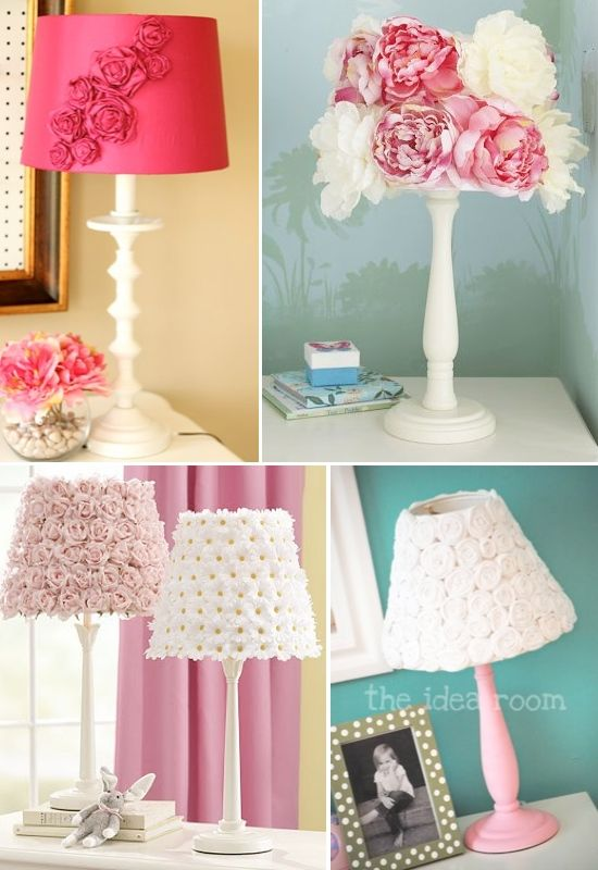 diy flower lampshades women stuff pinterest lampenschirm beziehen z une und lampen. Black Bedroom Furniture Sets. Home Design Ideas