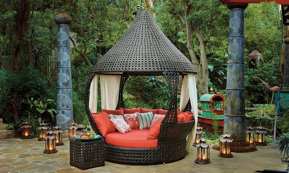 Bed Outdoor Cabana Beds For Round Lounge Patio Daybeds Wicker Daybed And Sofa Mattress Pool
